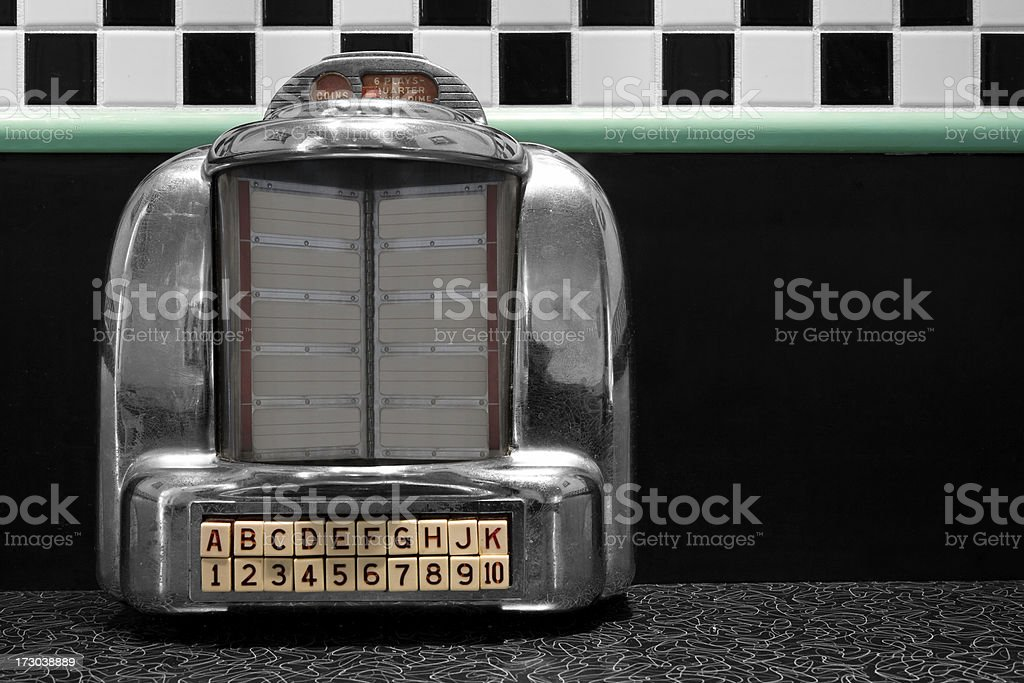 Table Top jukebox stock photo