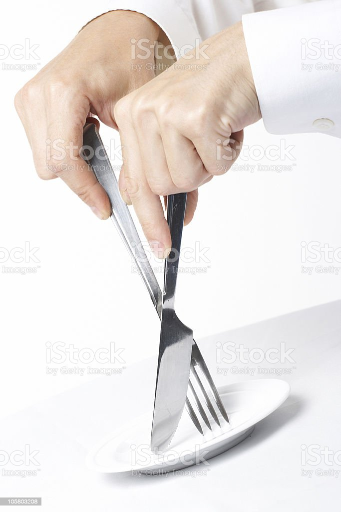 Table wares knife a plug royalty-free stock photo