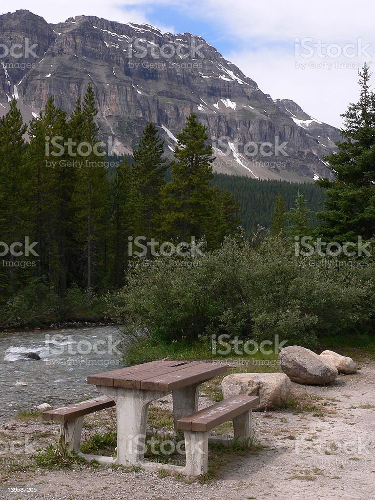 Table with a View stock photo
