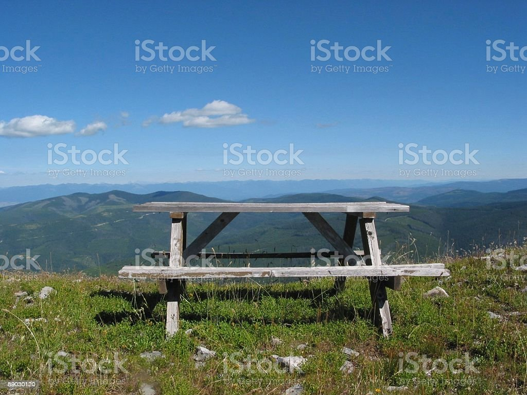 Table With A View royalty-free stock photo