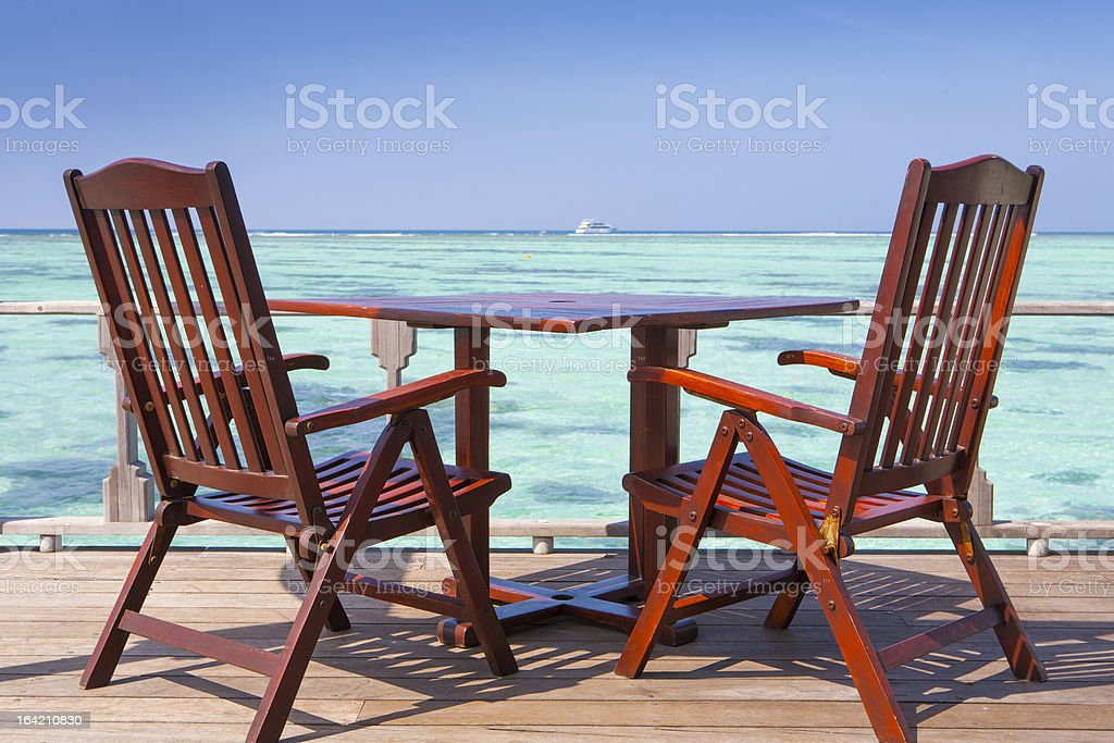 table with chairs royalty-free stock photo