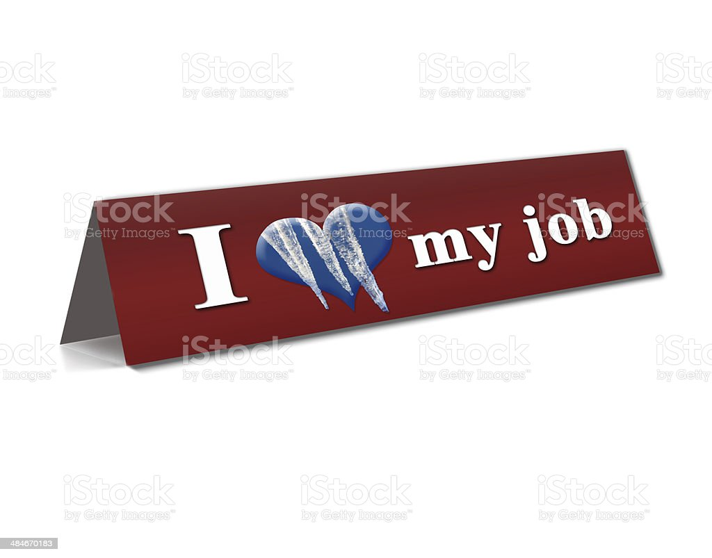 Table with inscription representing treatment job royalty-free stock photo