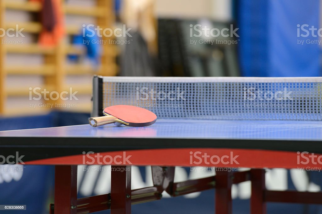 table with net for table tennis stock photo