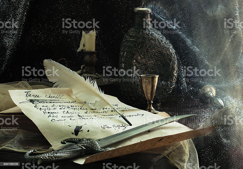 Table with poems by Shakespeare stock photo