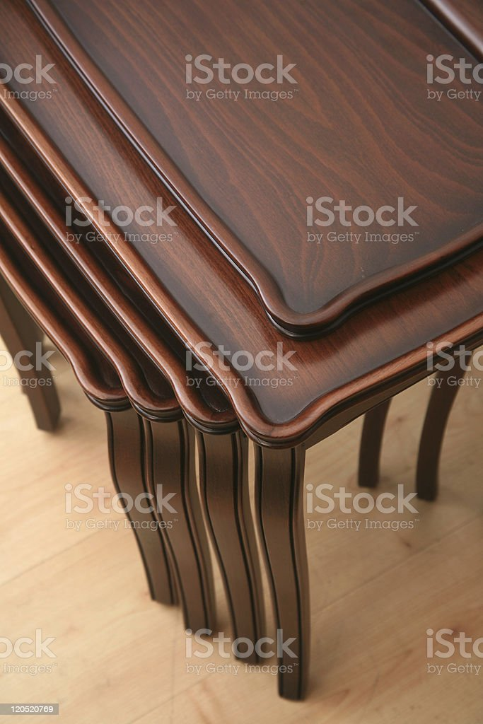 Table with stools stock photo