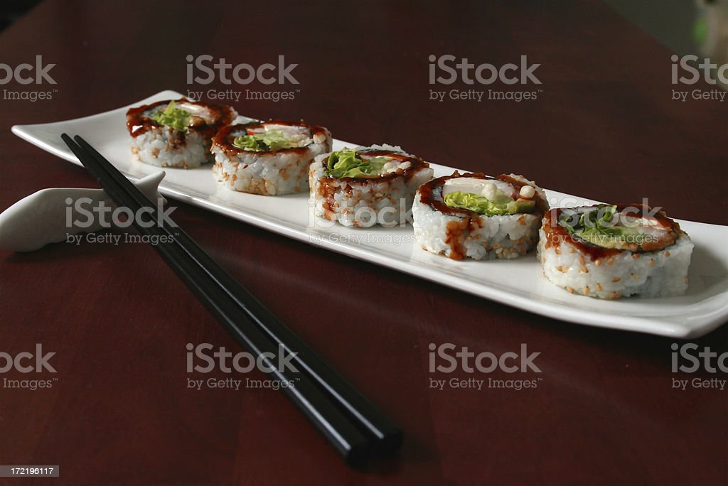 table with sushi royalty-free stock photo