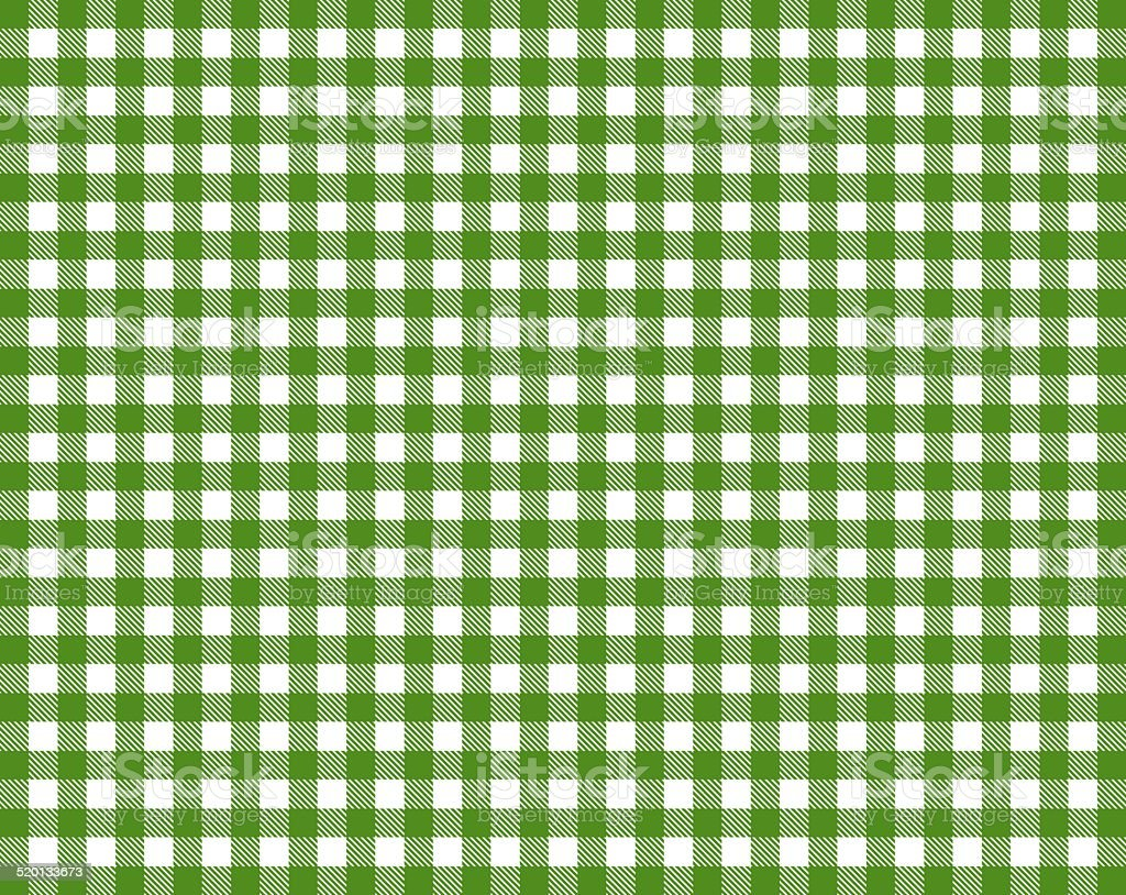 Tablecloth green white stock photo