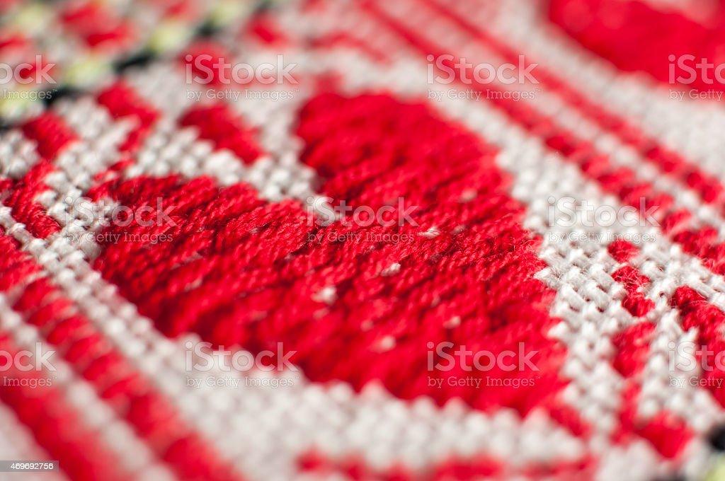 Tablecloth pattern, croatian ethnic ornament stock photo