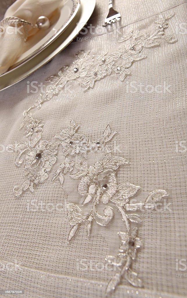 tablecloth royalty-free stock photo