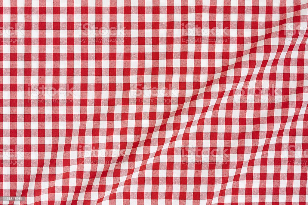 Tablecloth red and white stock photo