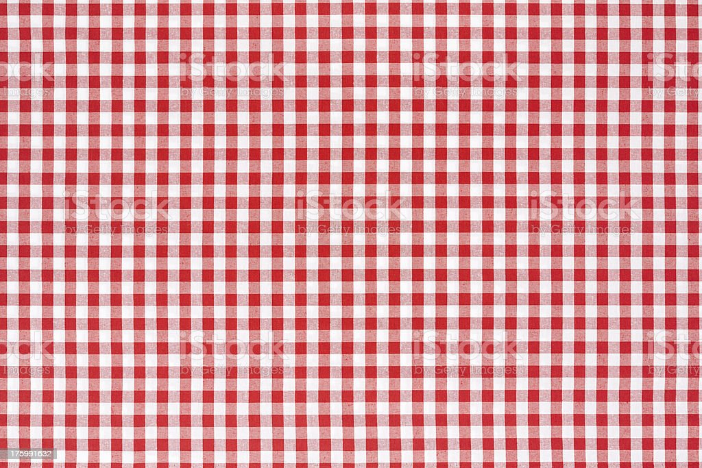 Tablecloth red and white texture background stock photo