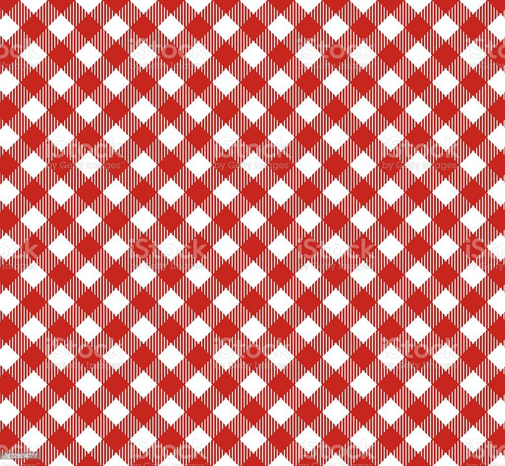 Tablecloth red whtite diagonal stock photo