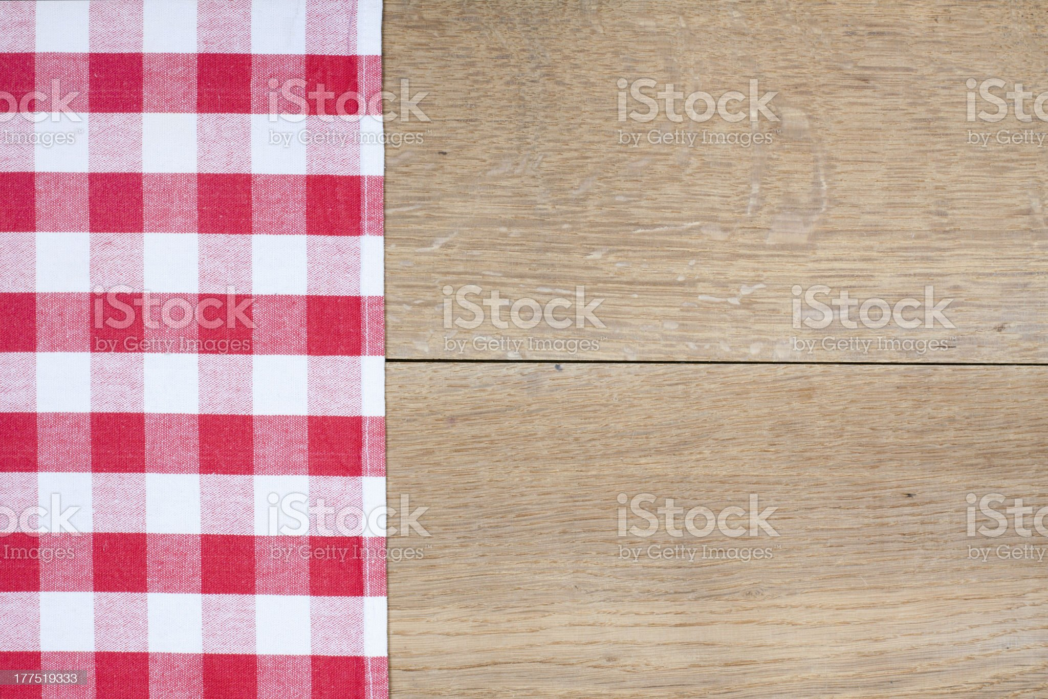 Tablecloth textile texture on wooden table background royalty-free stock photo