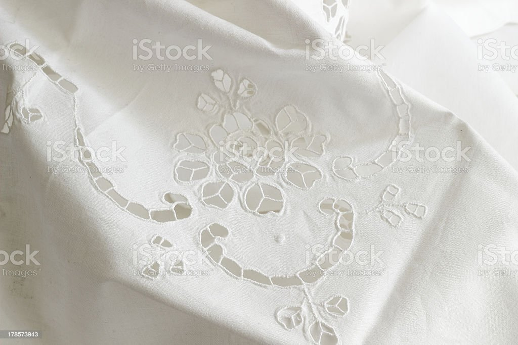 tablecloth with emroidery stock photo