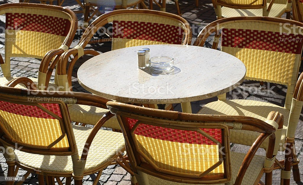 Tables and Chairs 3 royalty-free stock photo