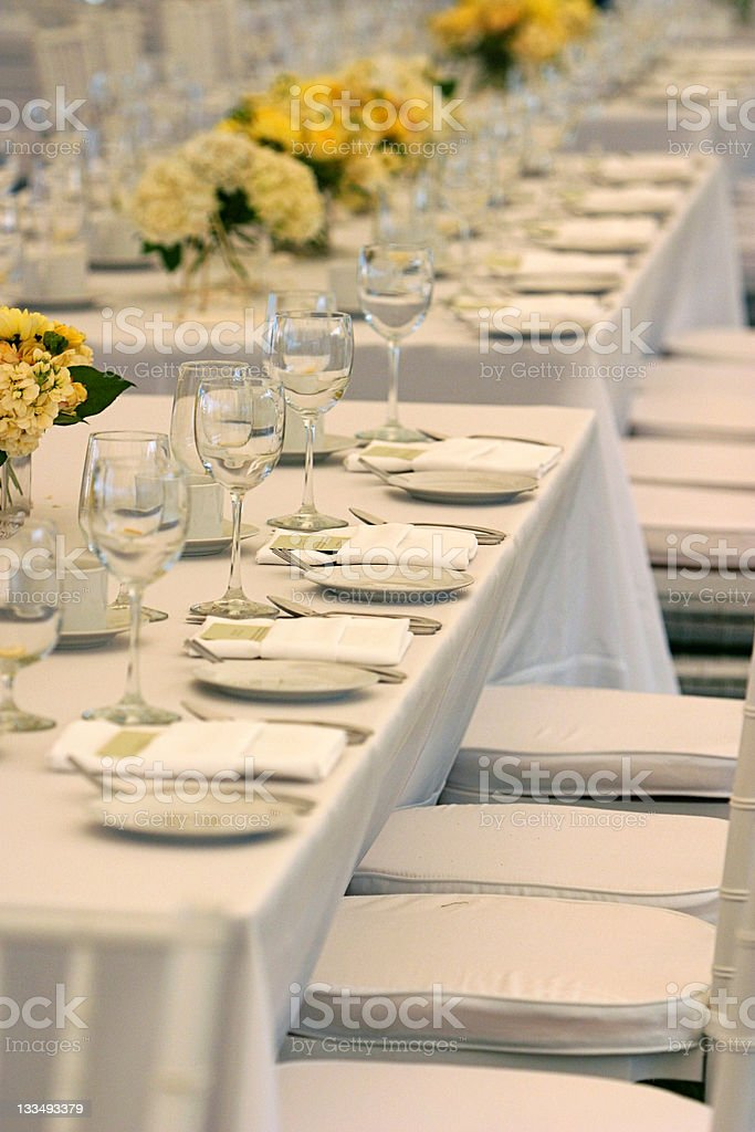 Tables are set royalty-free stock photo