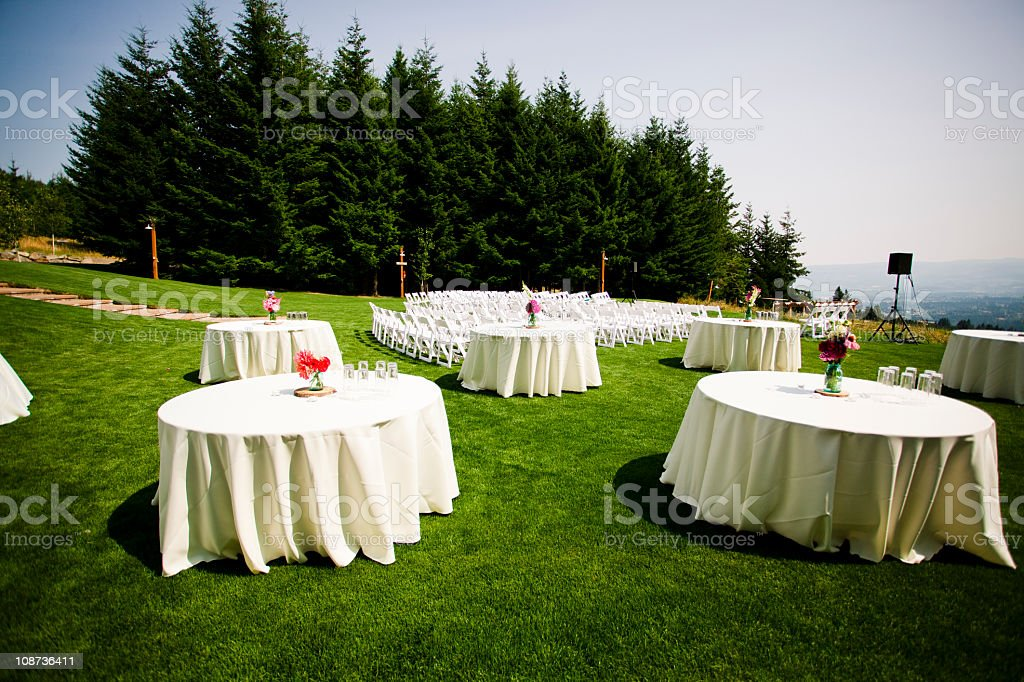 Tables at a formal event royalty-free stock photo