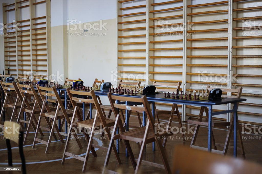 tables chess competition royalty-free stock photo
