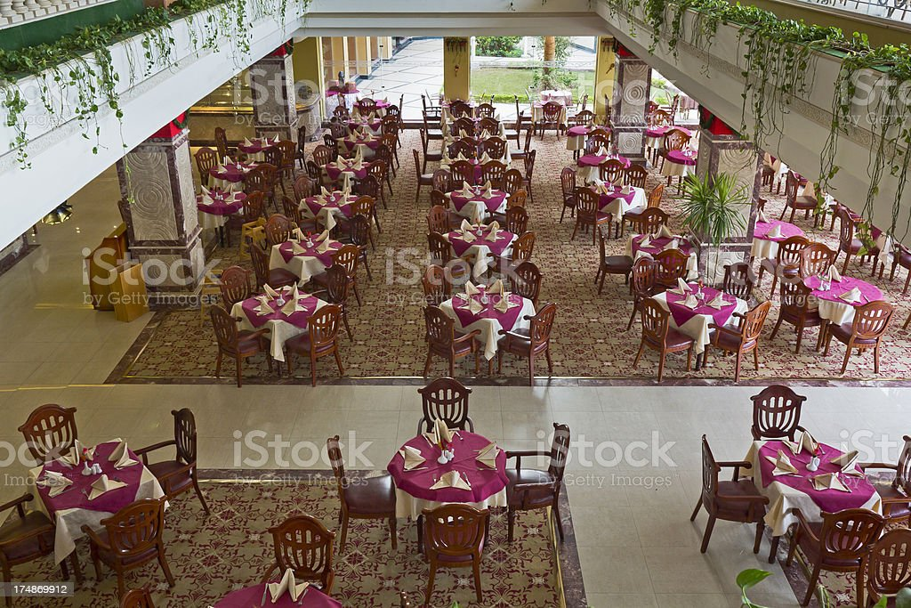 Tables in restaurant royalty-free stock photo