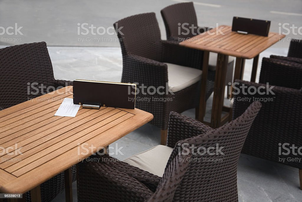 Tables in the restaurant stock photo