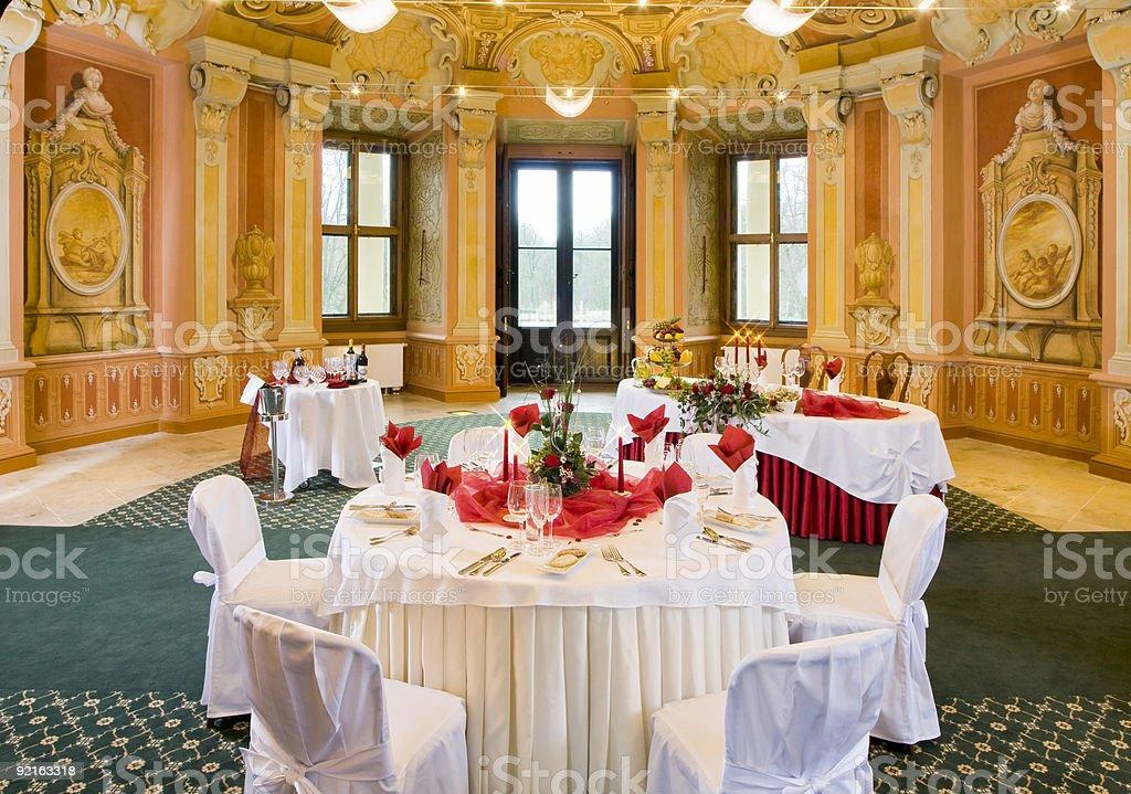 Столы на праздничный ужин Стоковые фото Стоковая фотография