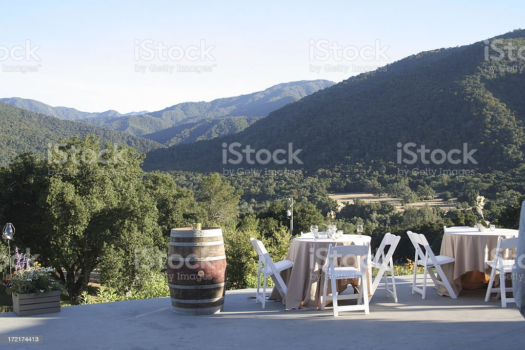 tables with a view royalty-free stock photo