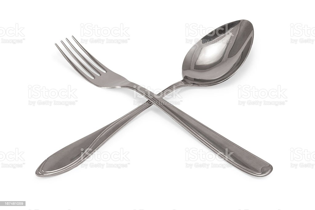 Tablespoon and fork royalty-free stock photo