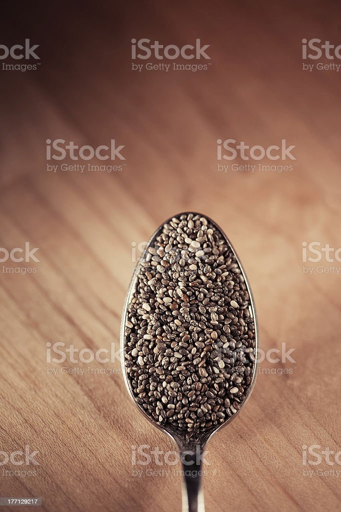 Tablespoon of Chia royalty-free stock photo