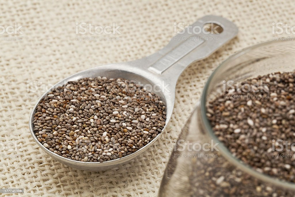 tablespoon of chia seeds royalty-free stock photo