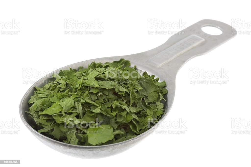 tablespoon of dried parsley royalty-free stock photo