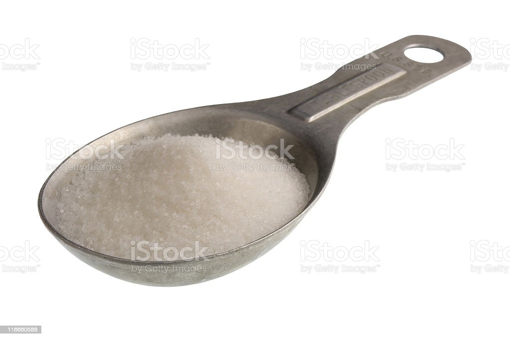 tablespoon of salt royalty-free stock photo