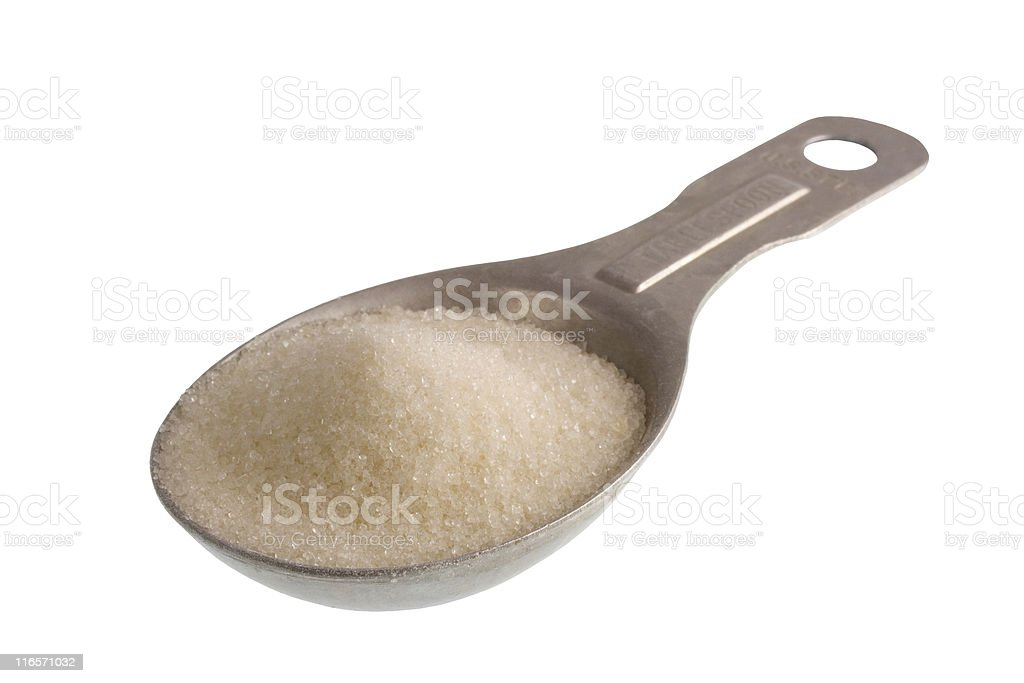 tablespoon of white sugar royalty-free stock photo