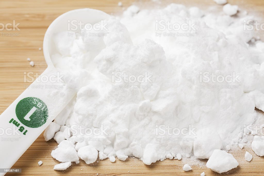 Tablespoon with Baking Soda stock photo