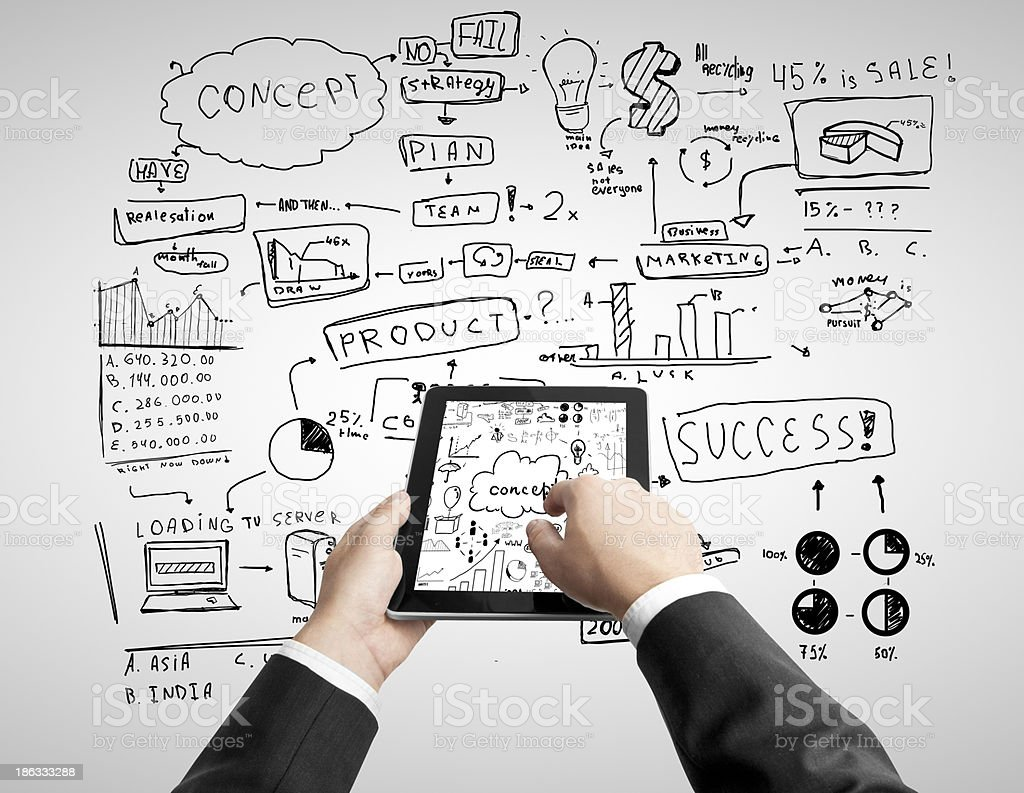 tablet and concept royalty-free stock photo