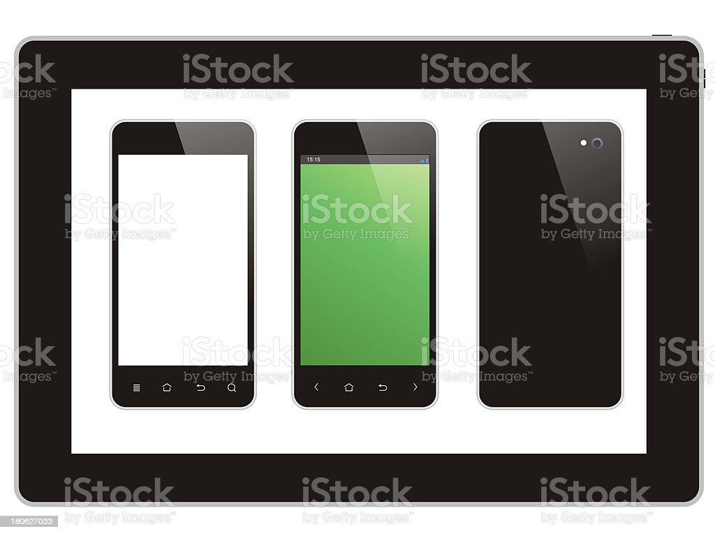 tablet and smart phone royalty-free stock photo