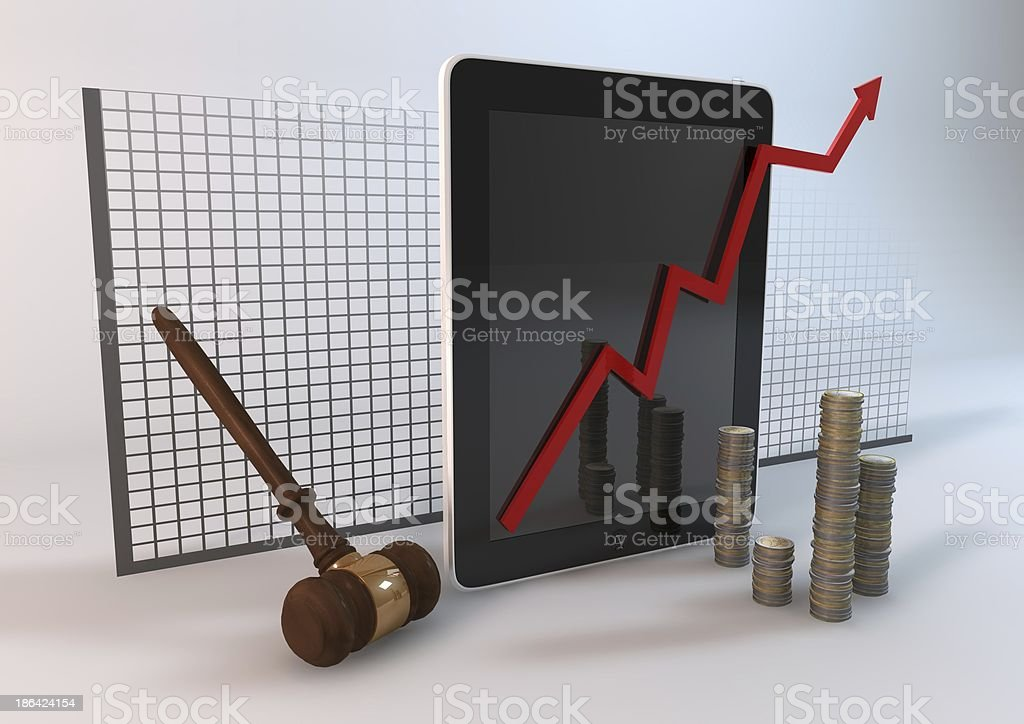 Tablet Bid royalty-free stock photo