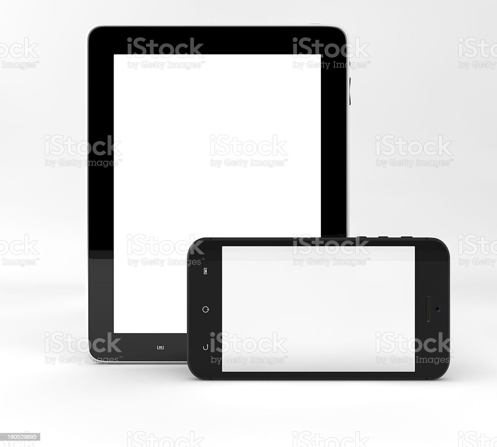 Tablet computer and phone royalty-free stock photo