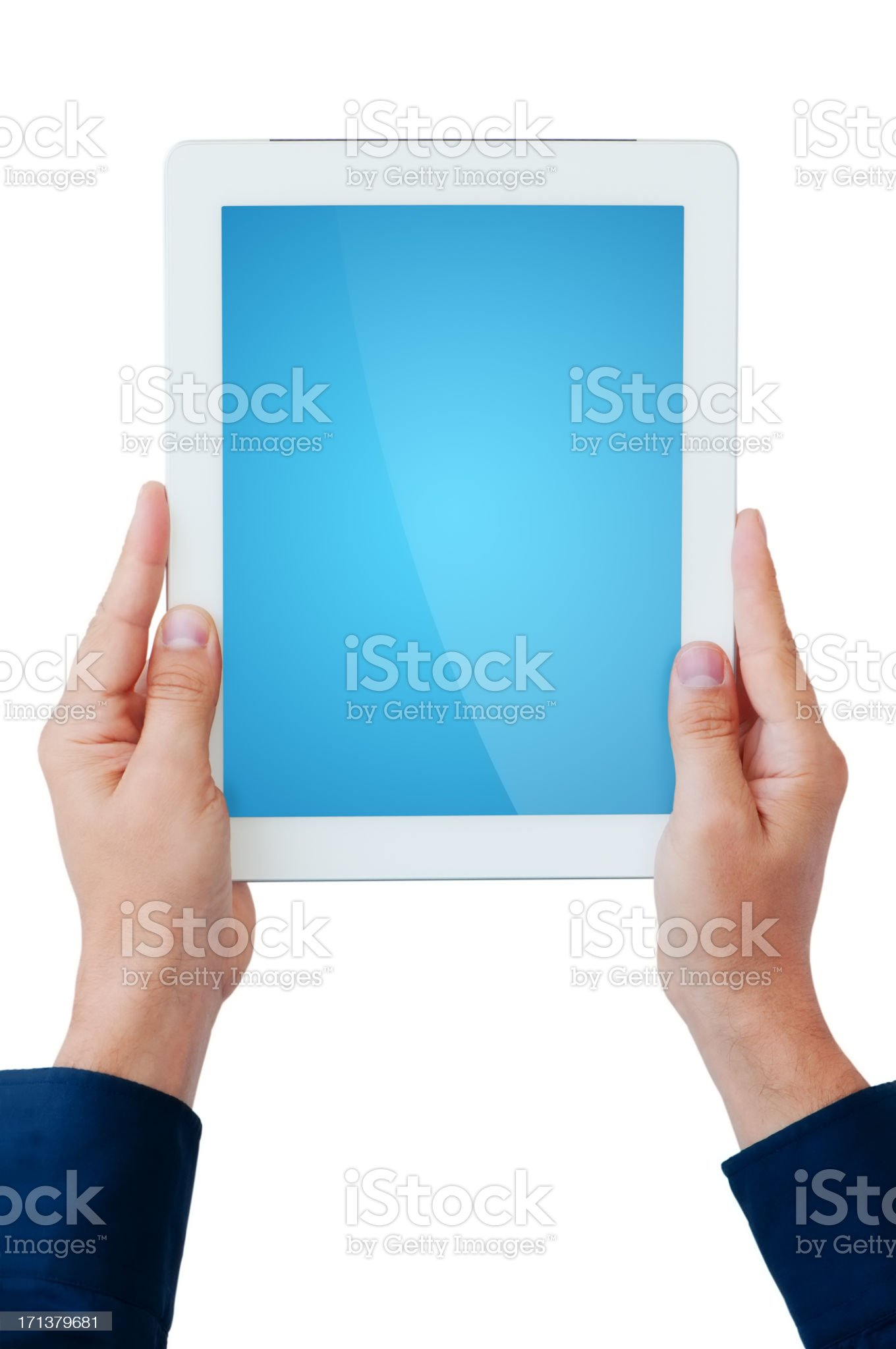 Tablet Computer - clipping path for the screen royalty-free stock photo