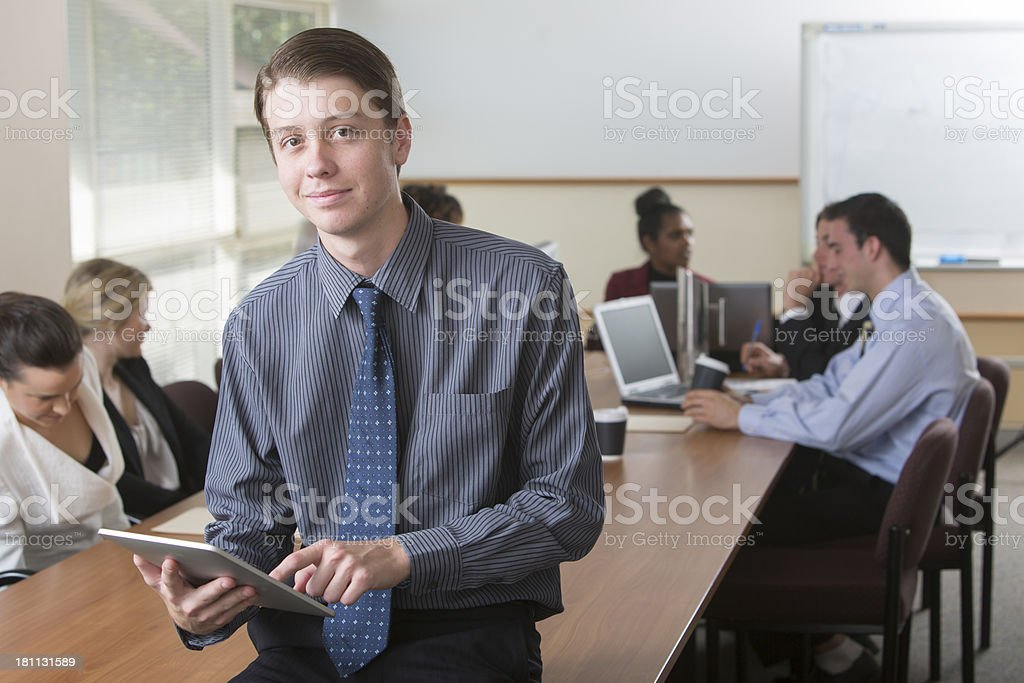 Tablet Computer Man royalty-free stock photo