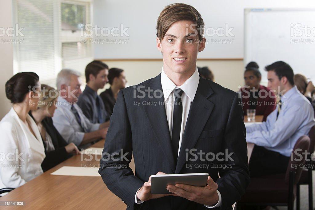 Tablet Computer Man royalty-free stock photo