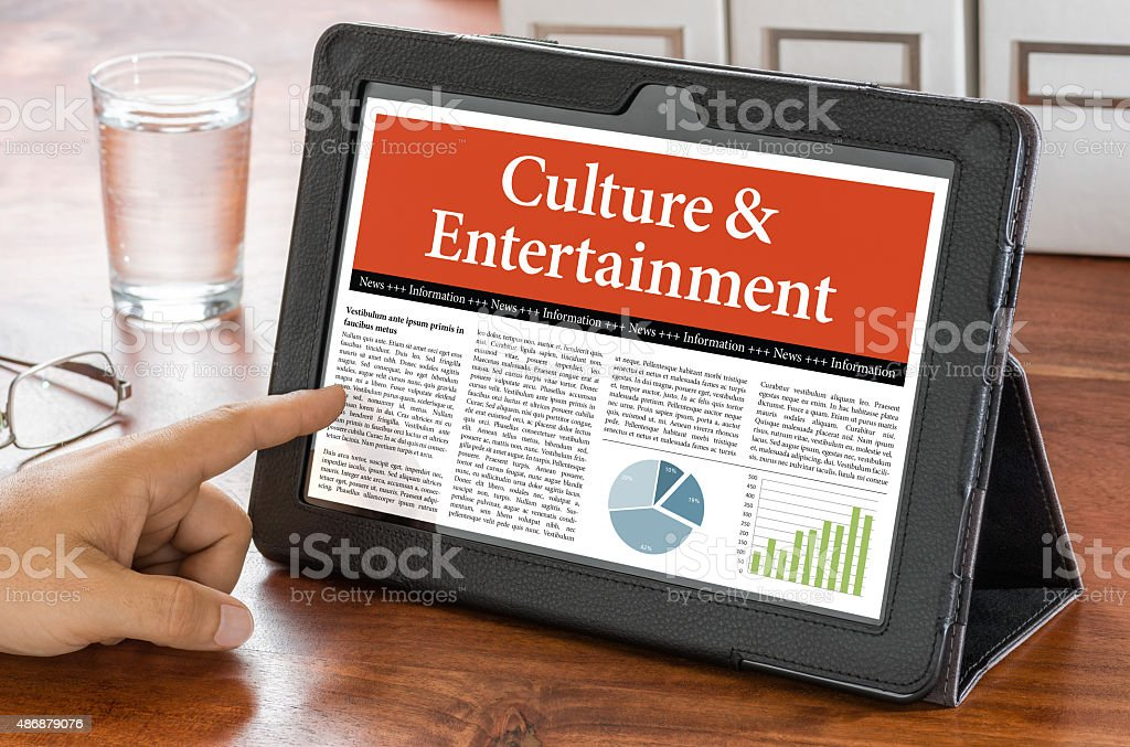 Tablet computer on a desk - Culture and Entertainment stock photo
