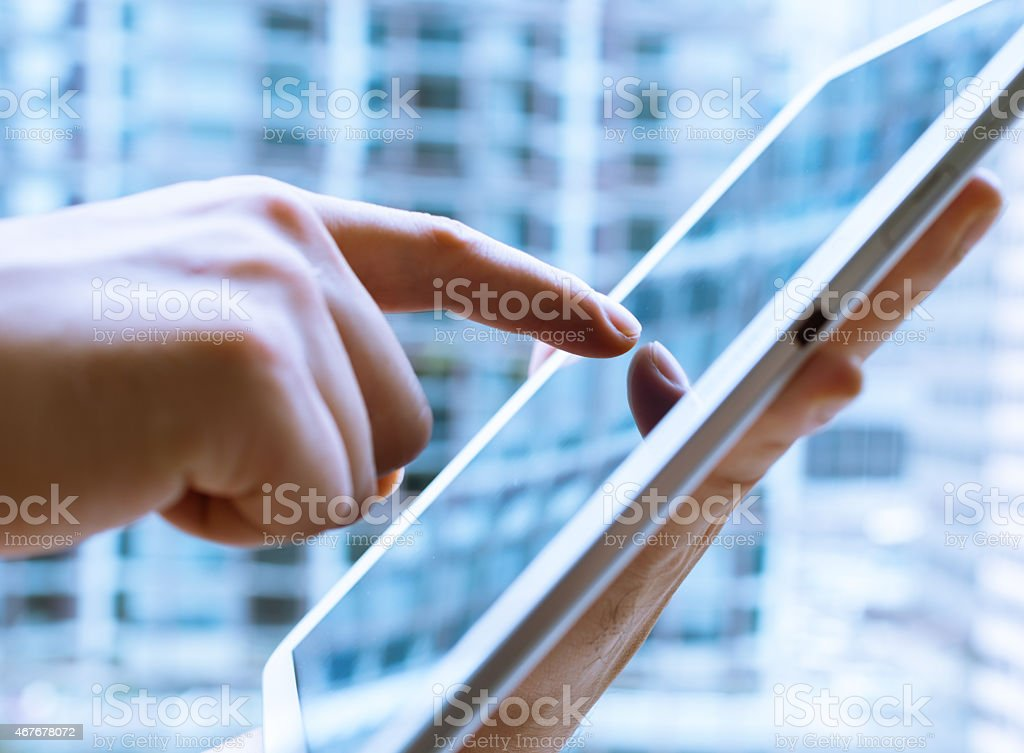 Tablet computer stock photo