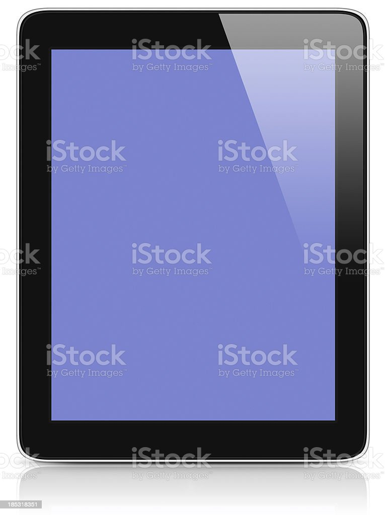 Tablet Computer Similar to iPad with Clipping Paths royalty-free stock photo