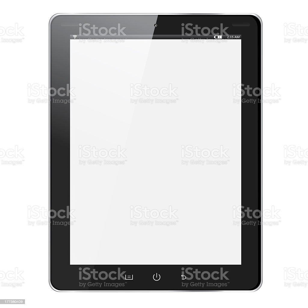 A tablet computer with a blank screen royalty-free stock photo