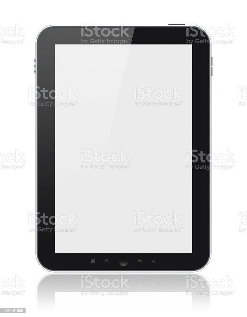 Tablet Computer With Blank Screen Isolated stock photo