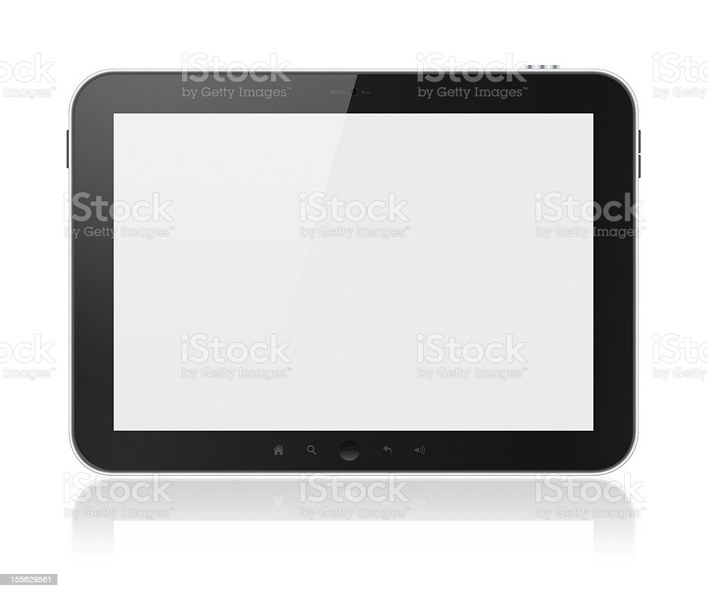 Tablet Computer With Blank Screen Isolated royalty-free stock photo