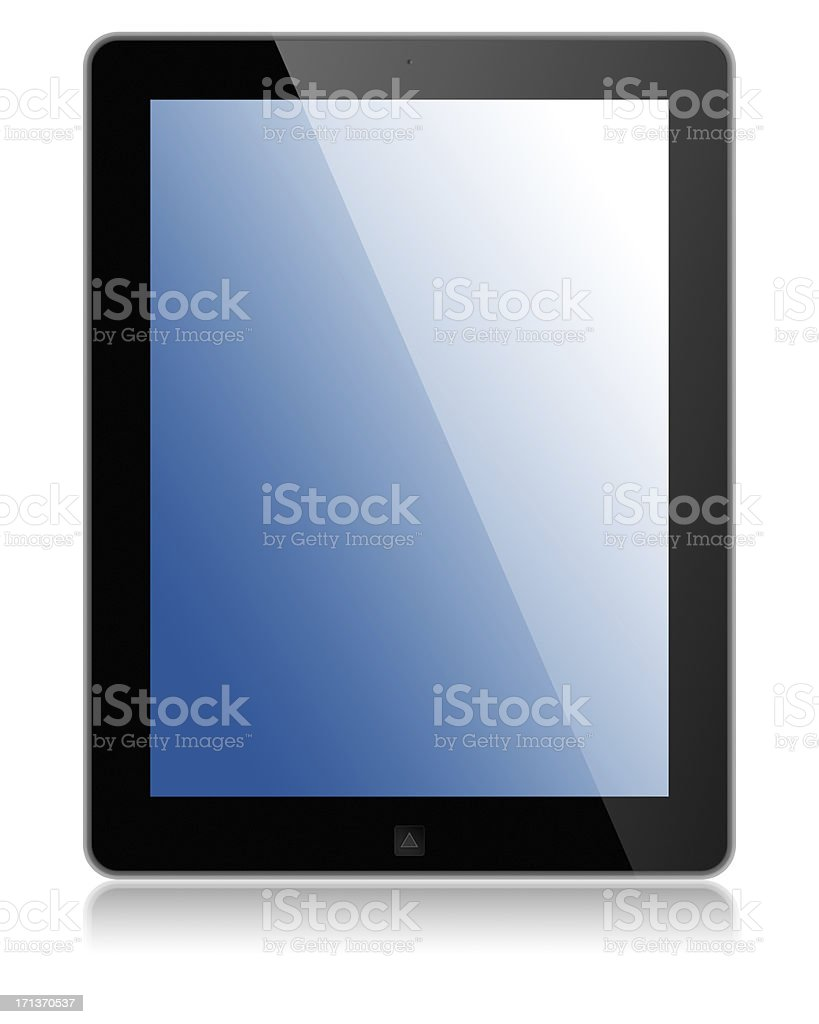 Tablet Computer with clipping path for the screen royalty-free stock photo