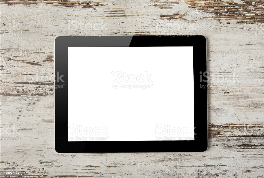 Tablet computer with screen royalty-free stock photo