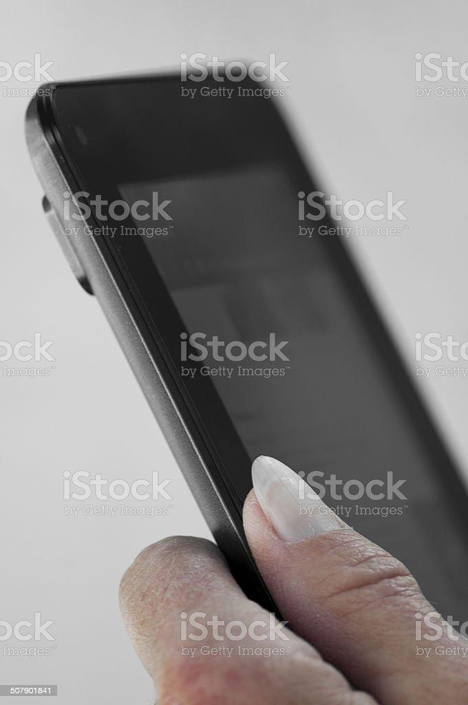 Tablet detalhe de foto royalty-free