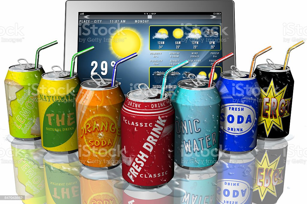 Tablet Drink - Soft drink stock photo